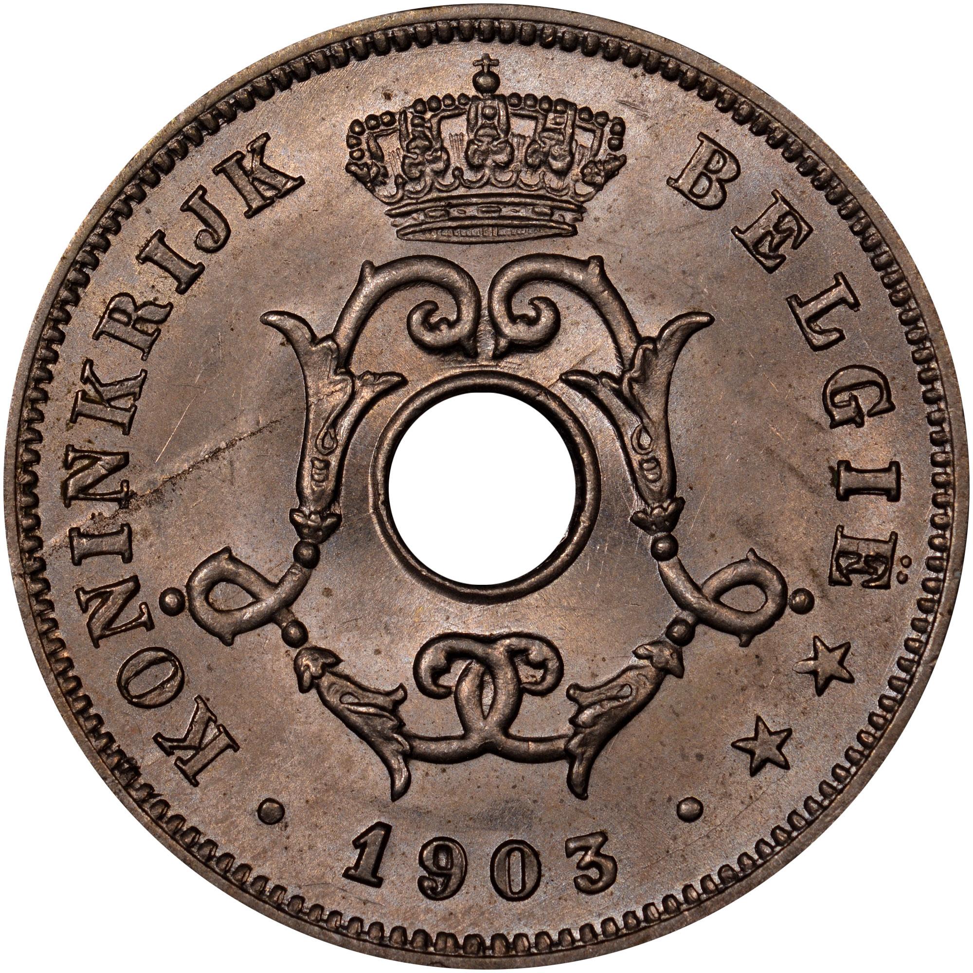 1903-1906/5 Belgium 10 Centimes obverse