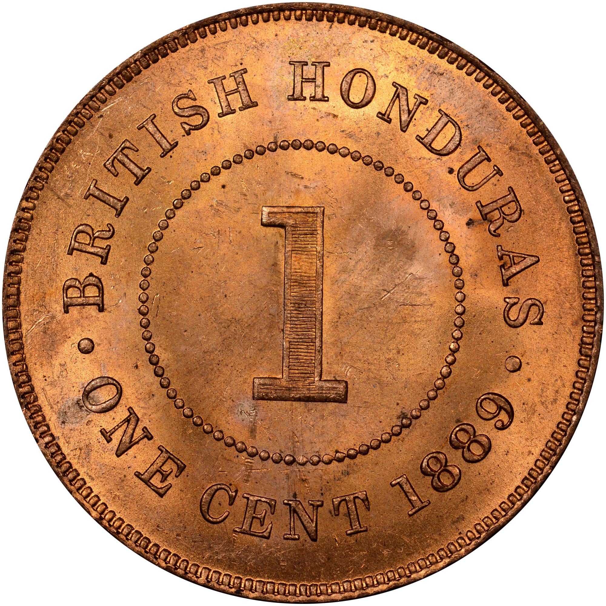 1885-1894 British Honduras Cent reverse