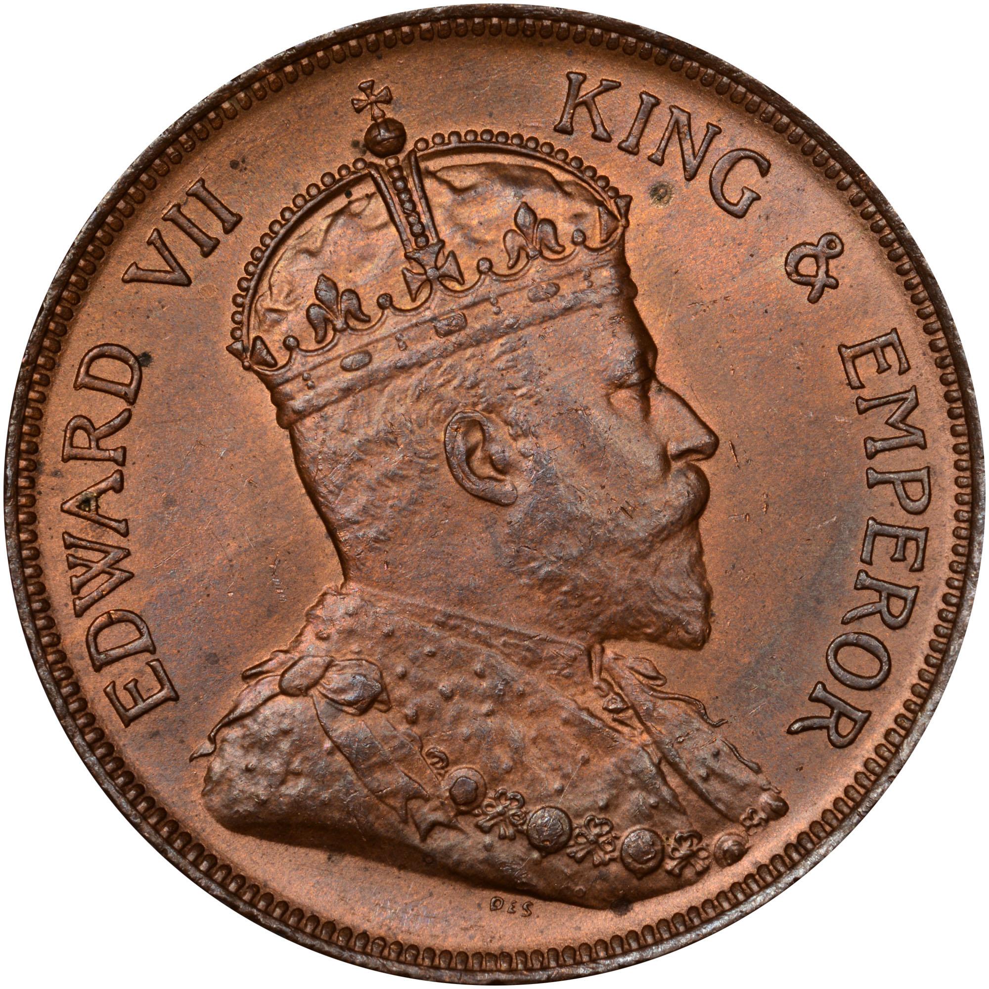 1904-1909 British Honduras Cent obverse