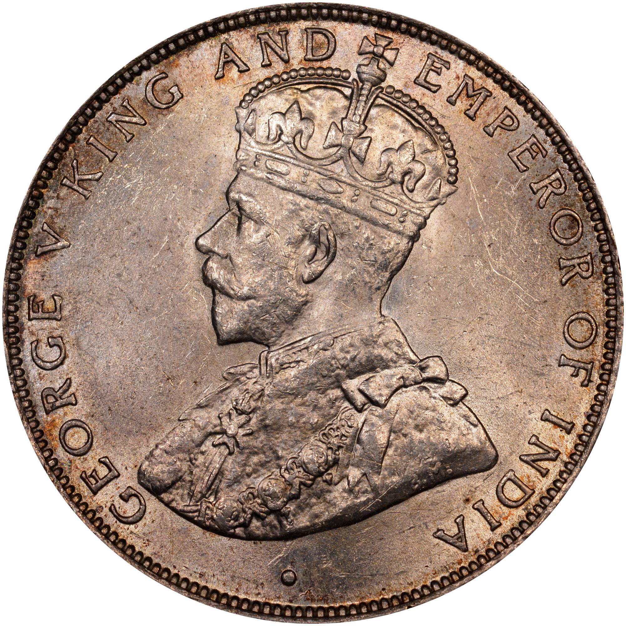 1911-1919 British Honduras 50 Cents obverse