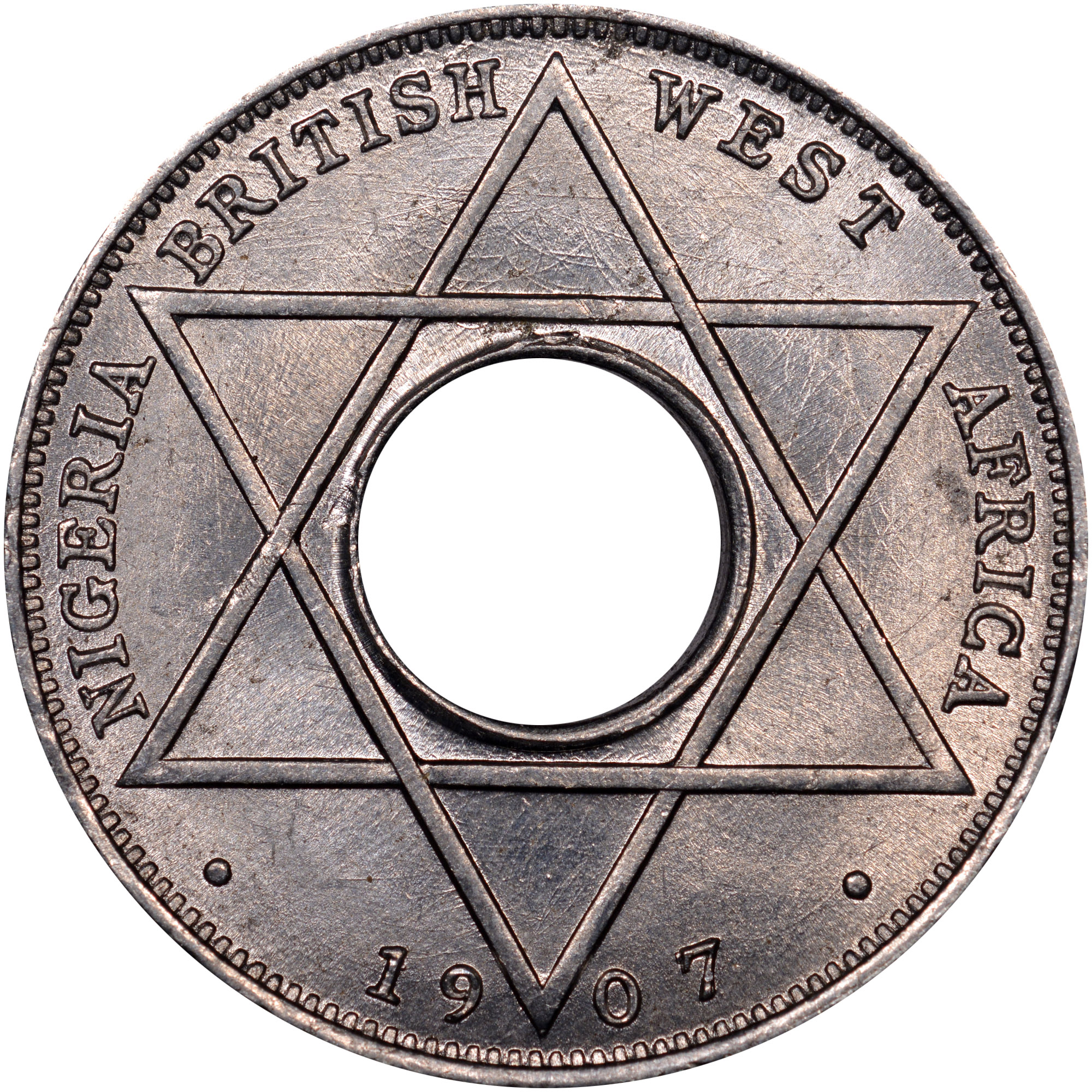 1907-1908 British West Africa 1/10 Penny reverse