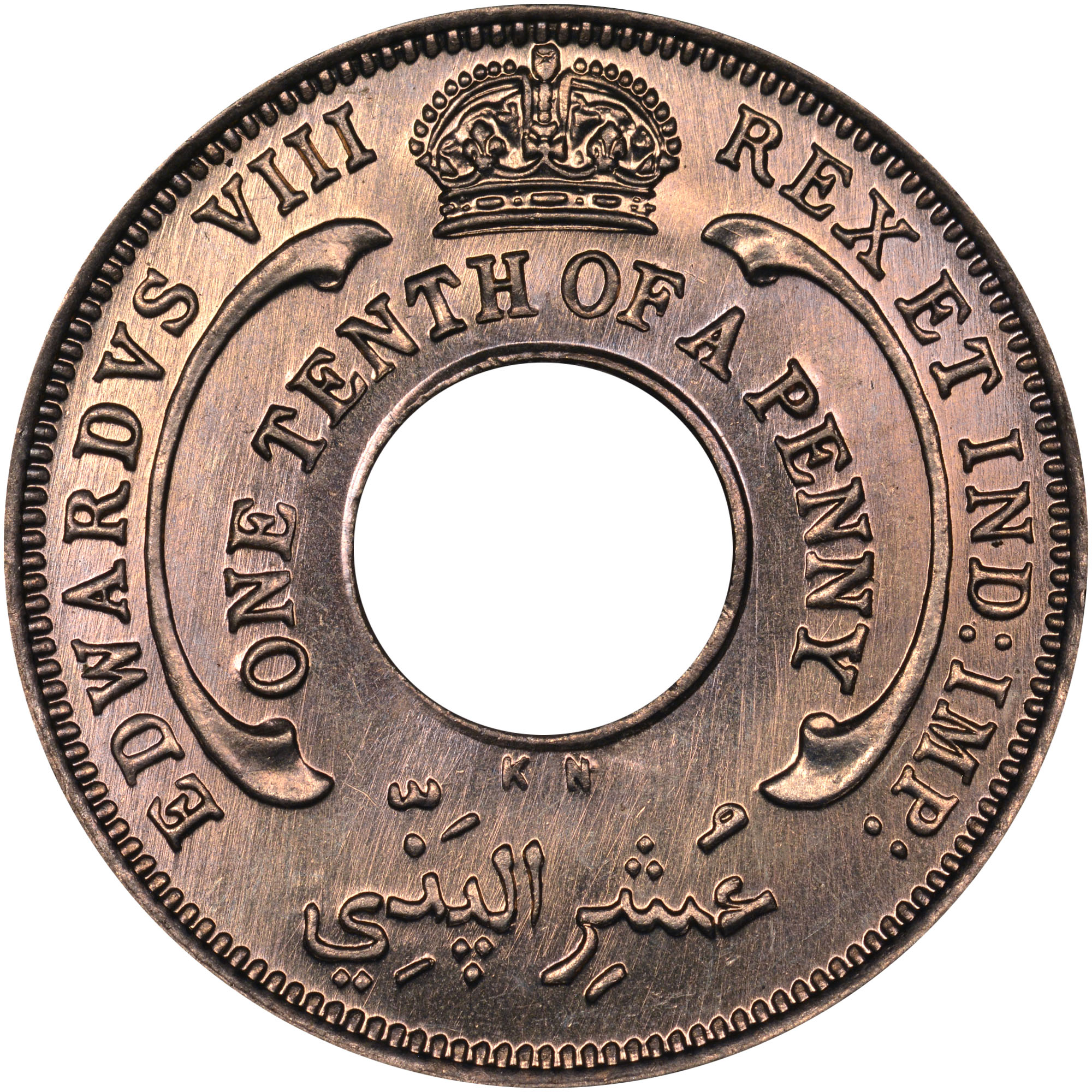 1936 British West Africa 1/10 Penny obverse