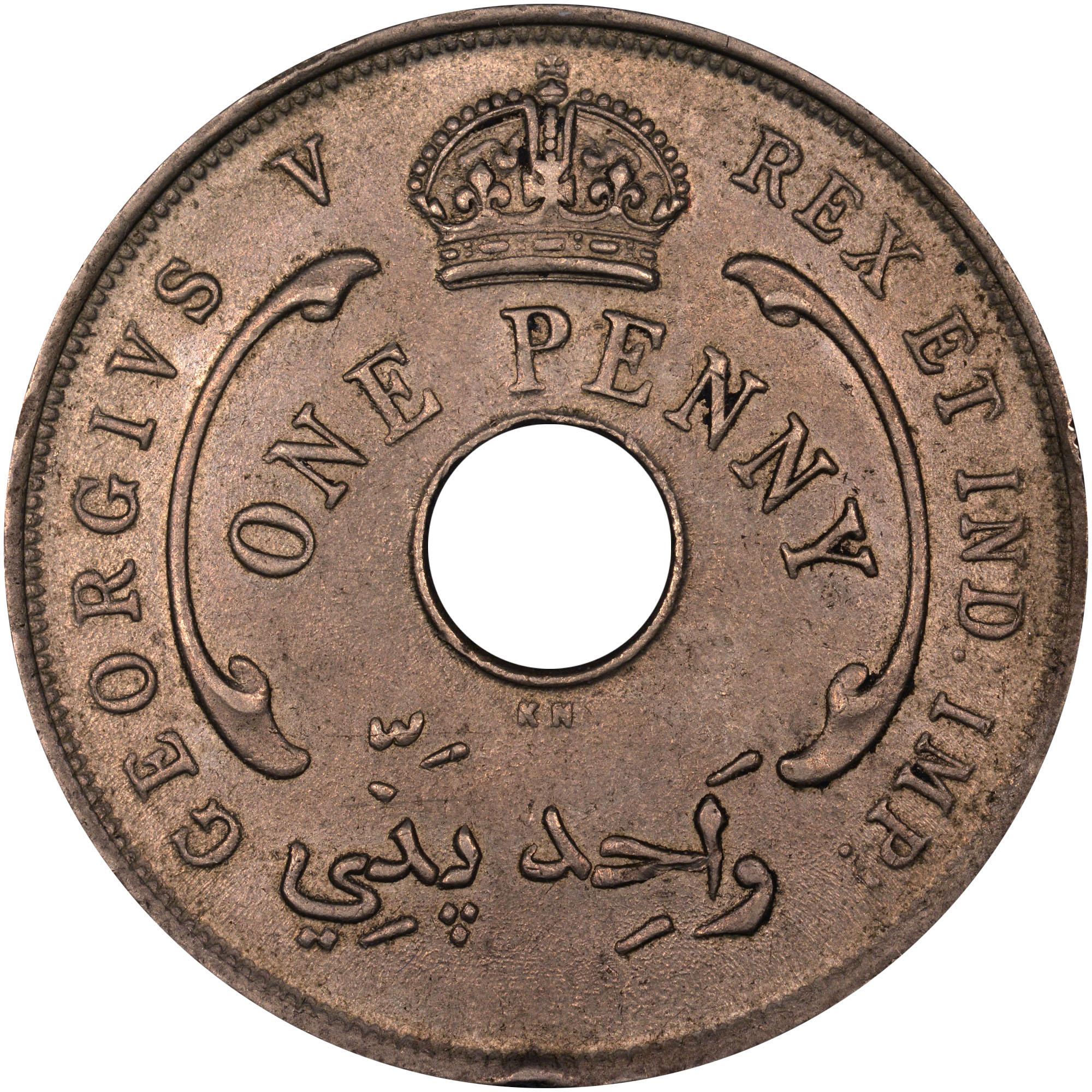 1912-1936 British West Africa Penny obverse