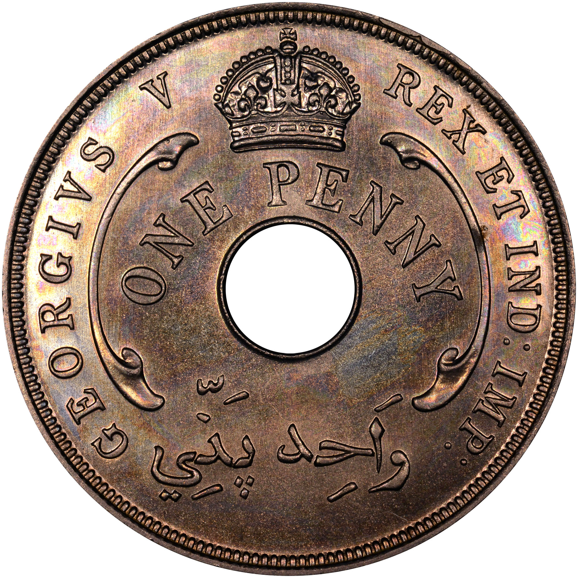 1912-1936 British West Africa Penny obverse