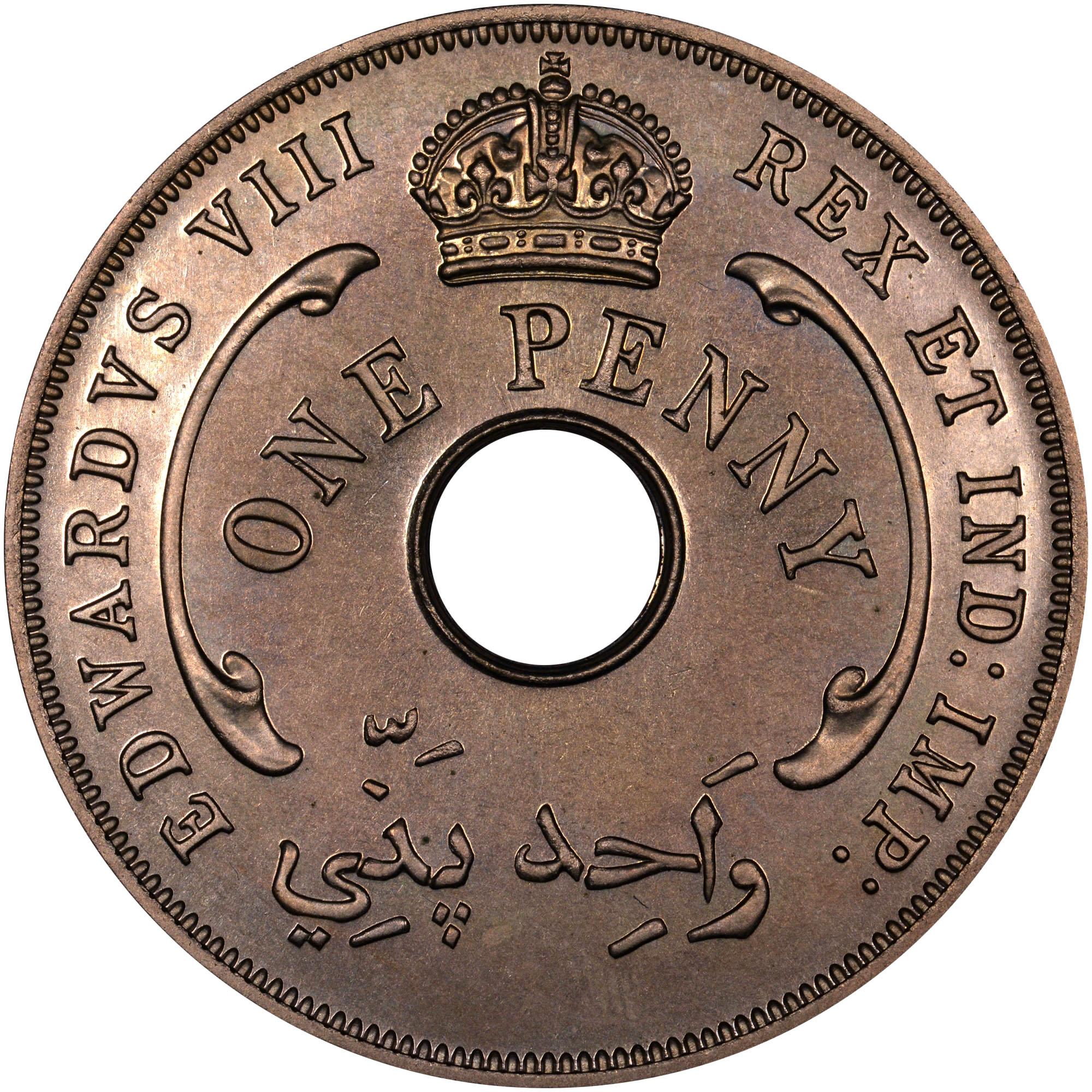 1936 British West Africa Penny obverse