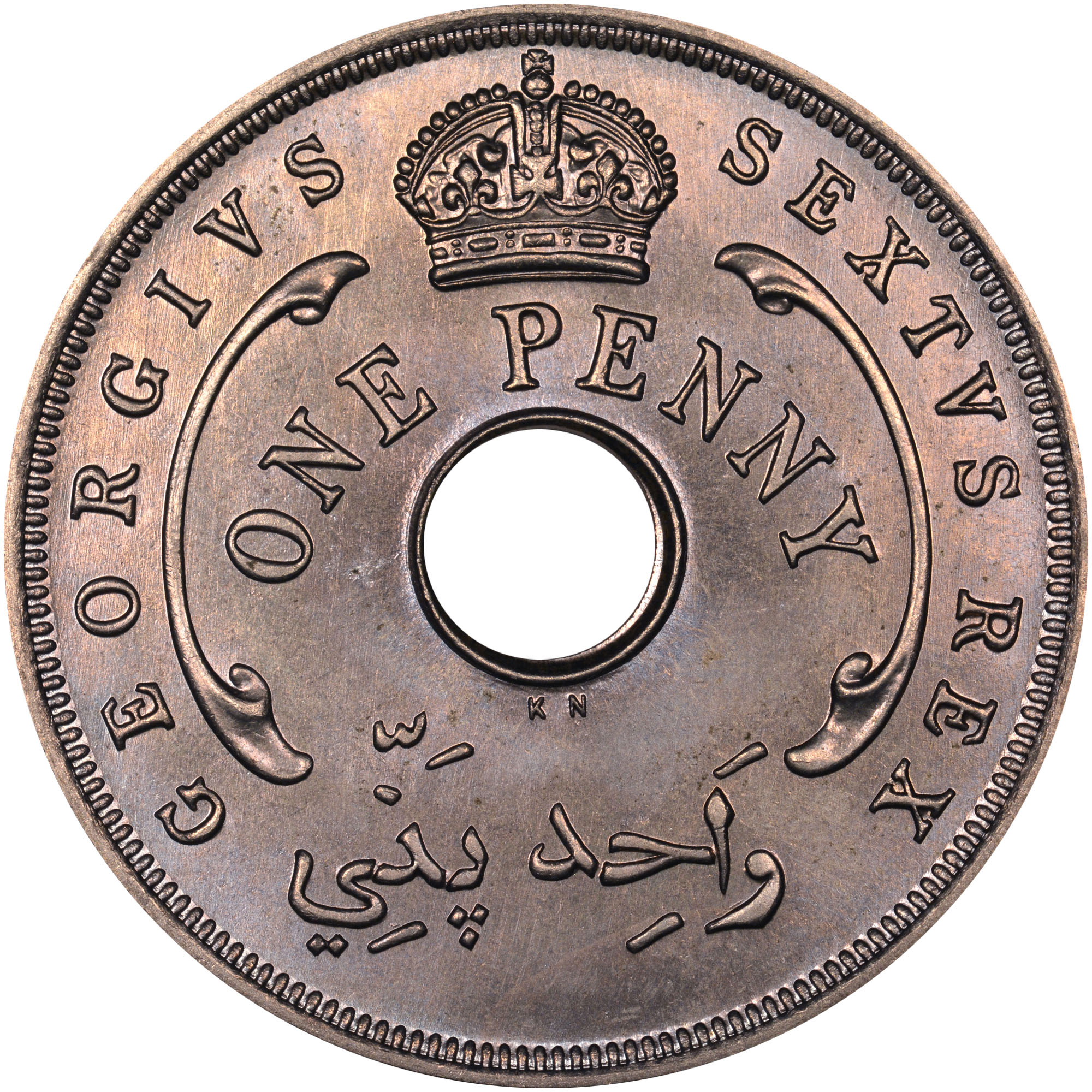 1951 British West Africa Penny obverse