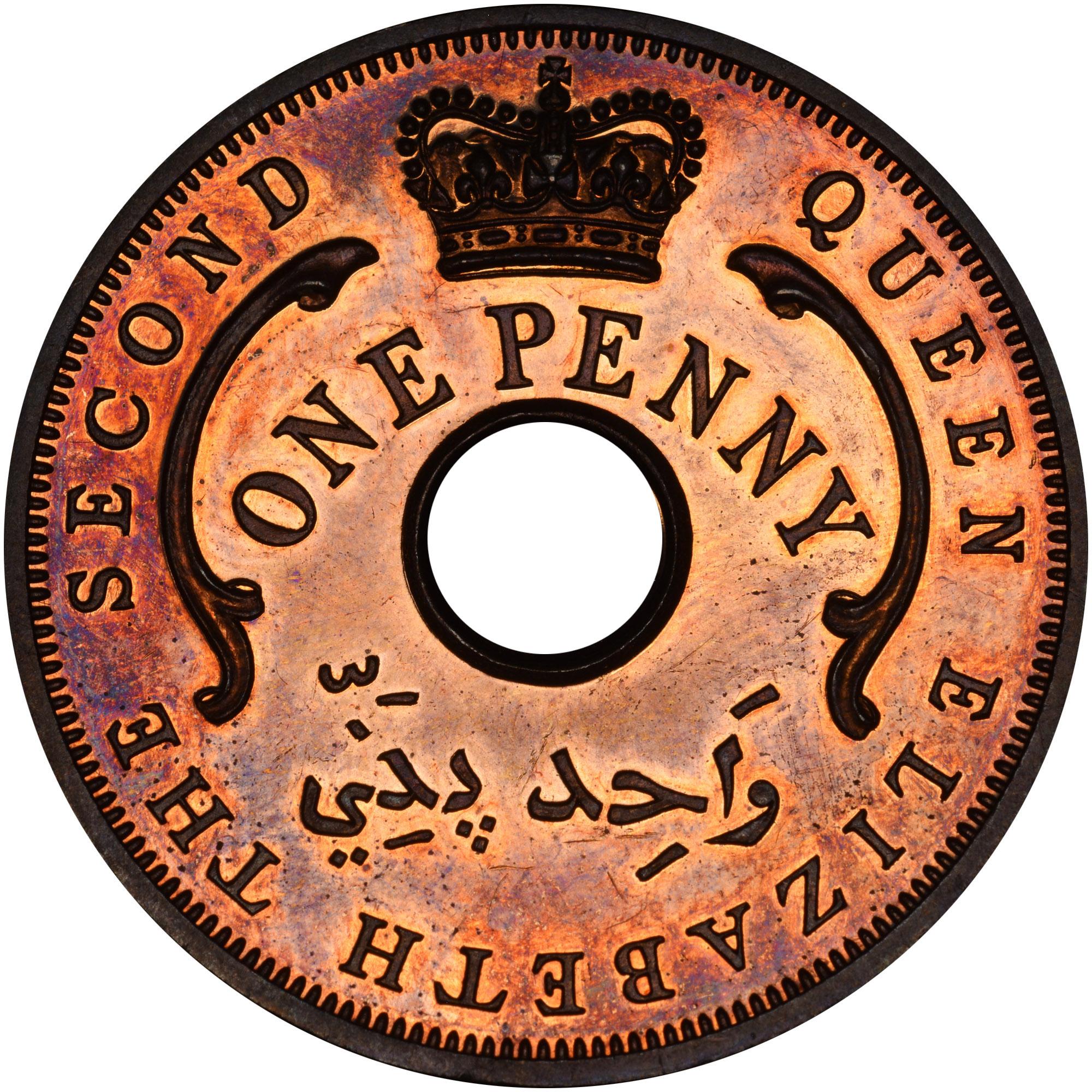 1956-1958 British West Africa Penny obverse