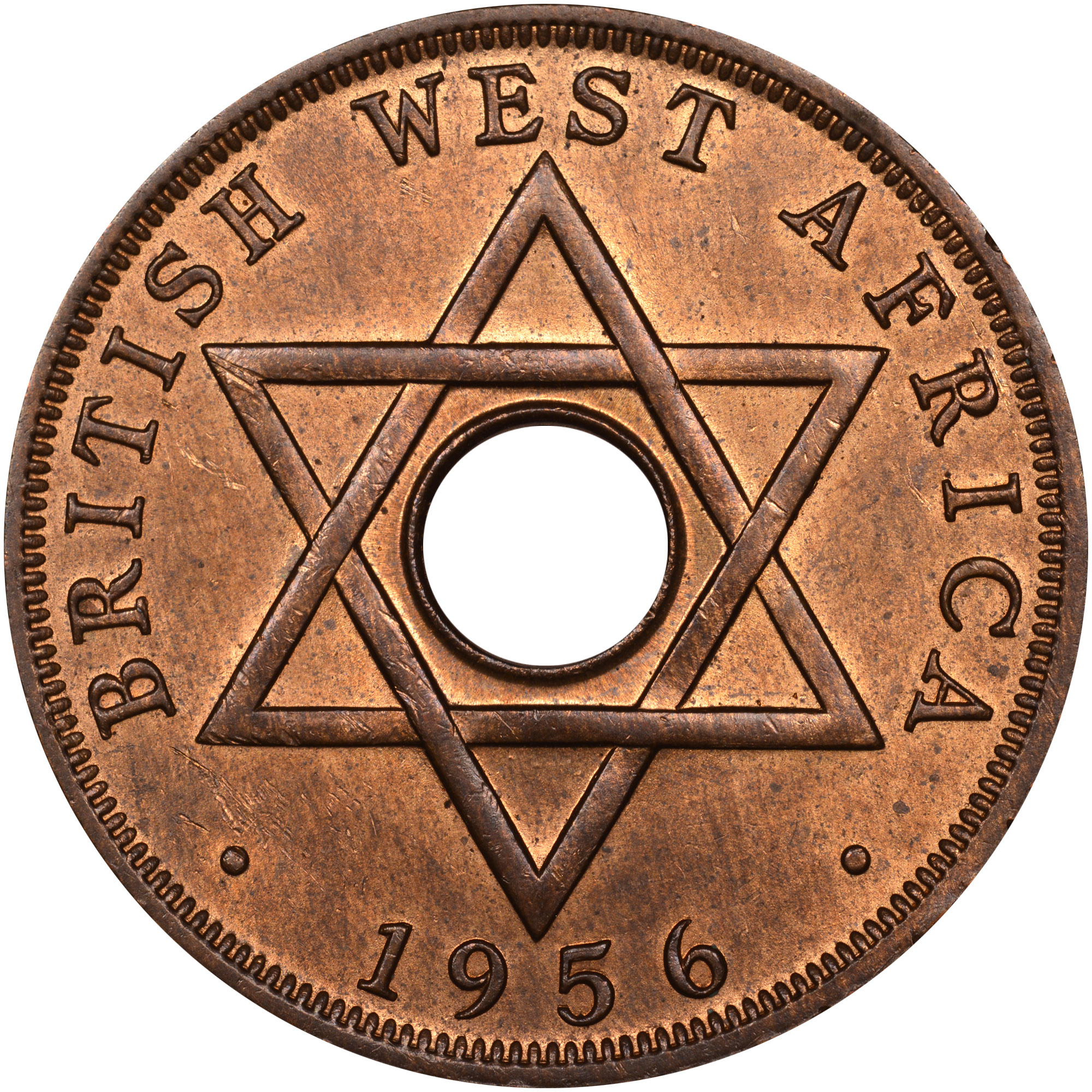 1956 British West Africa Penny reverse