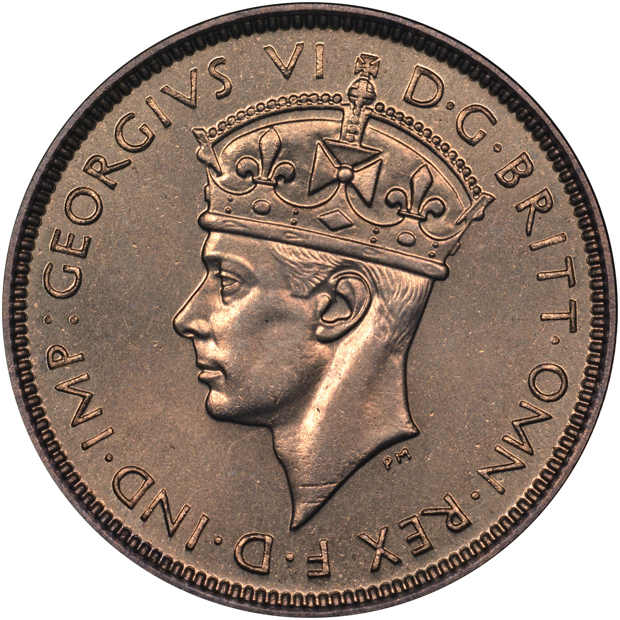 1938-1947 British West Africa 3 Pence obverse
