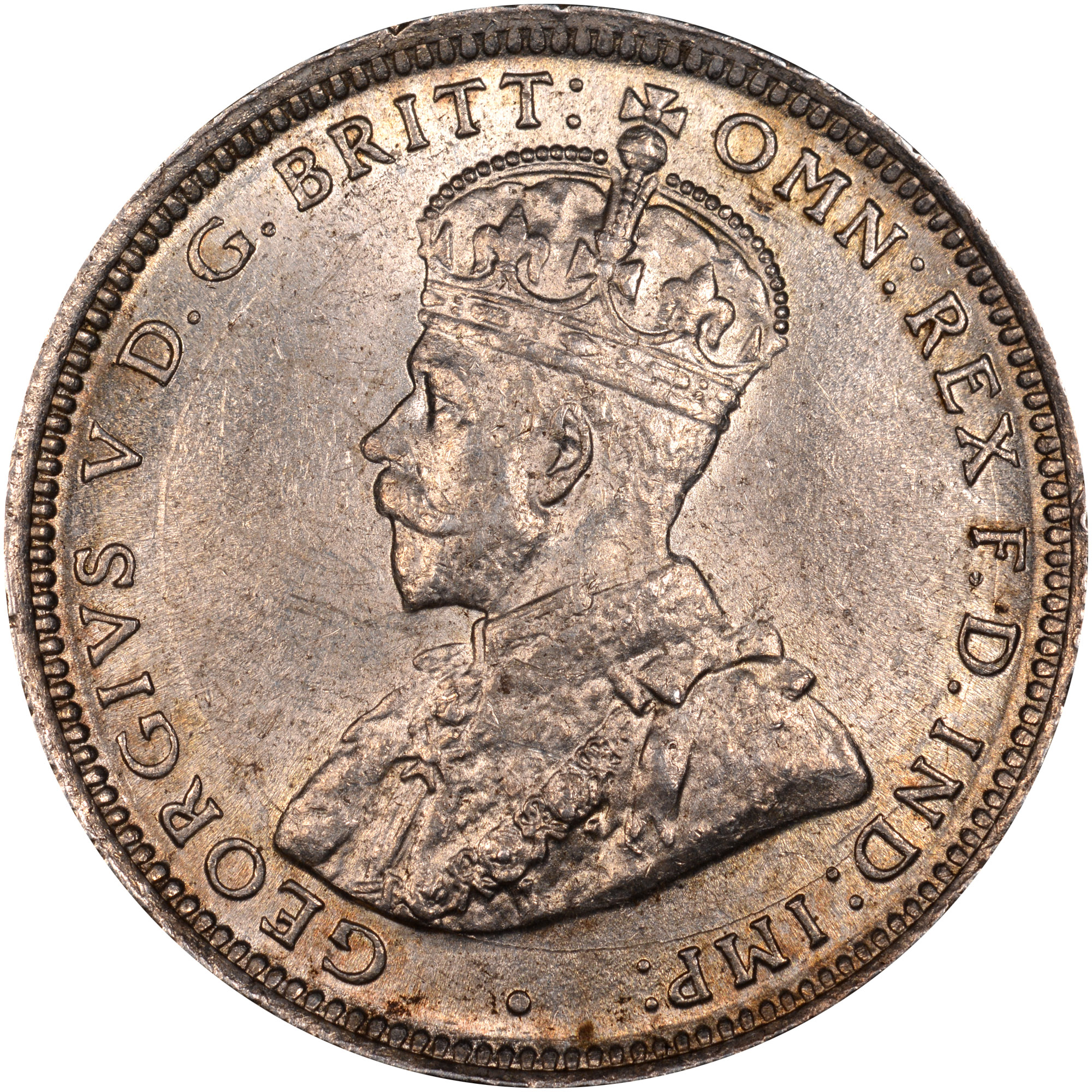 1913-1920 British West Africa Shilling obverse
