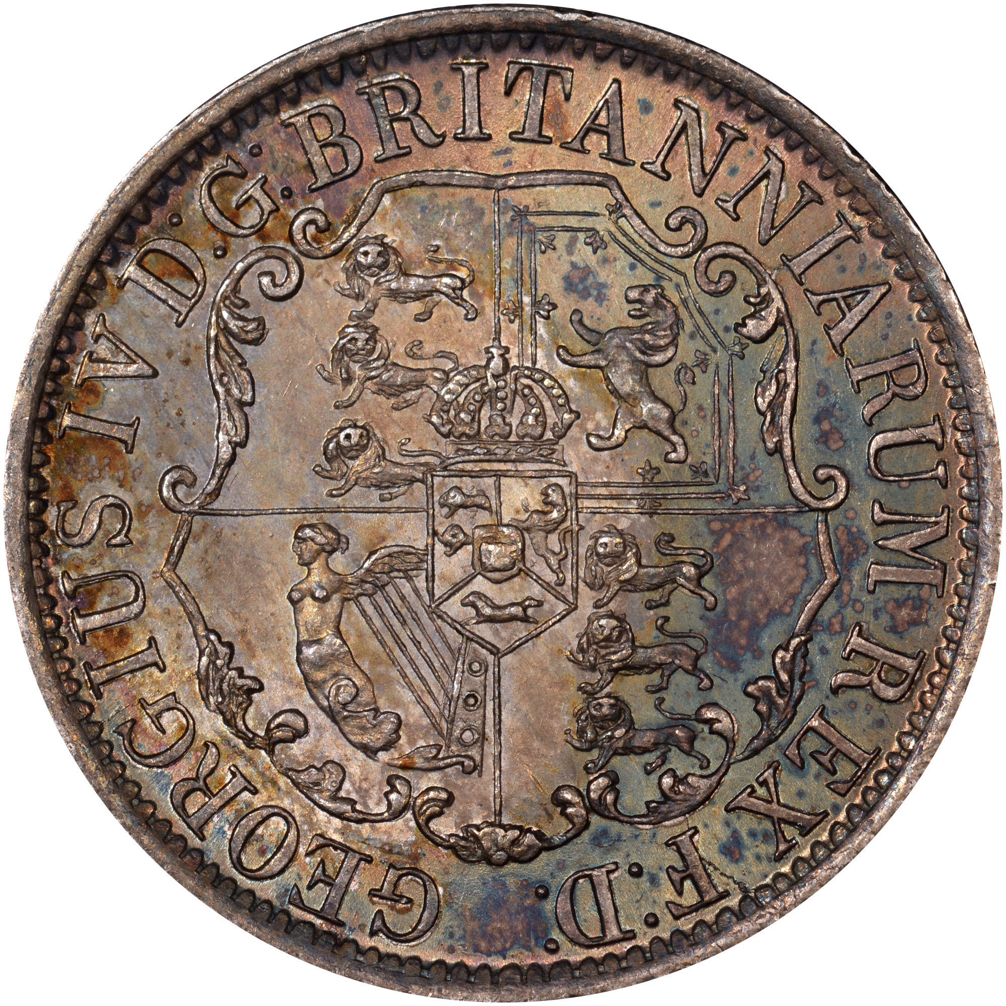 1820-1822/1 British West Indies 1/4 Dollar reverse