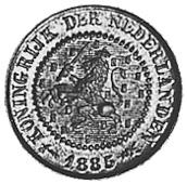 1878-1901 Netherlands 1/2 Cent obverse