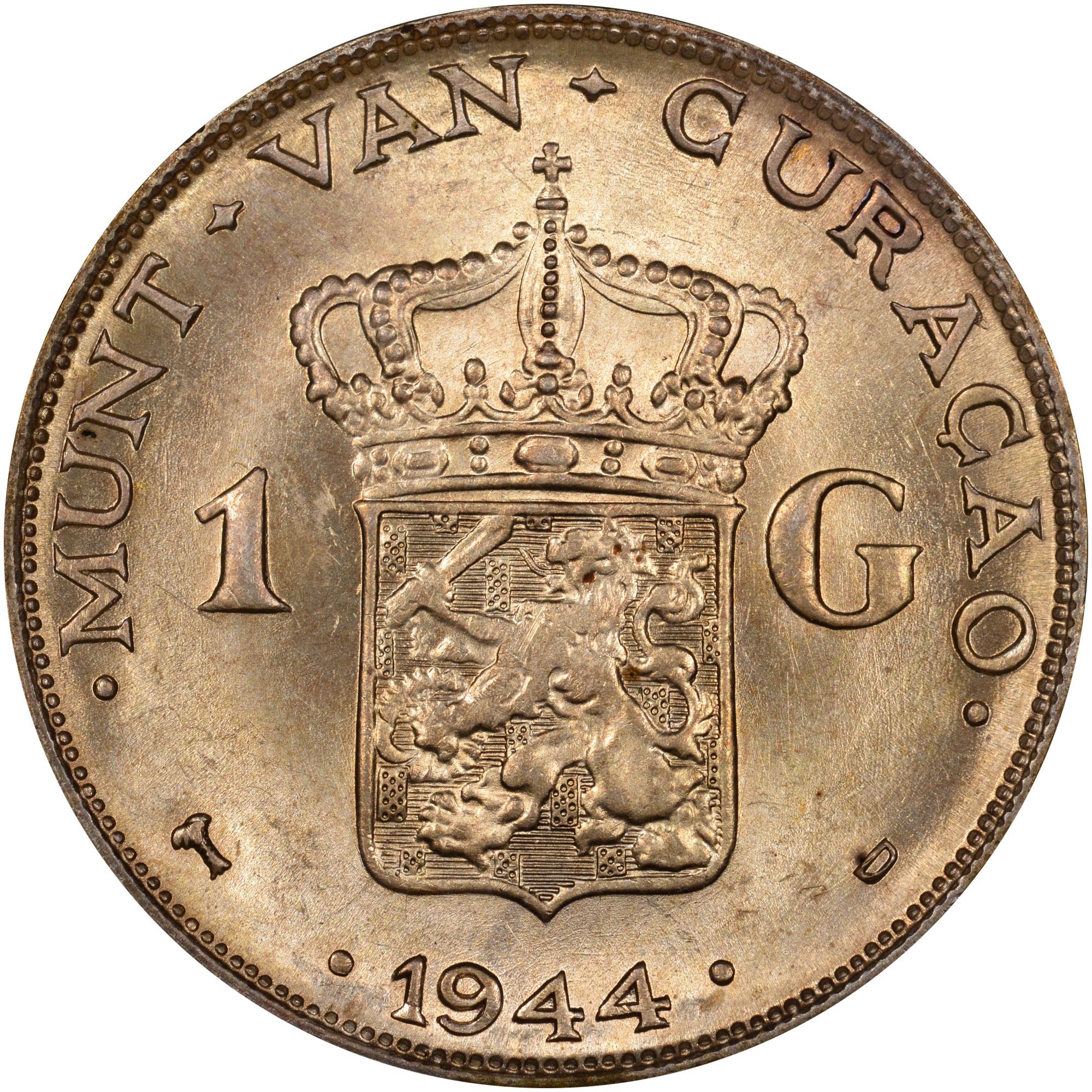 1944 Curacao Gulden reverse