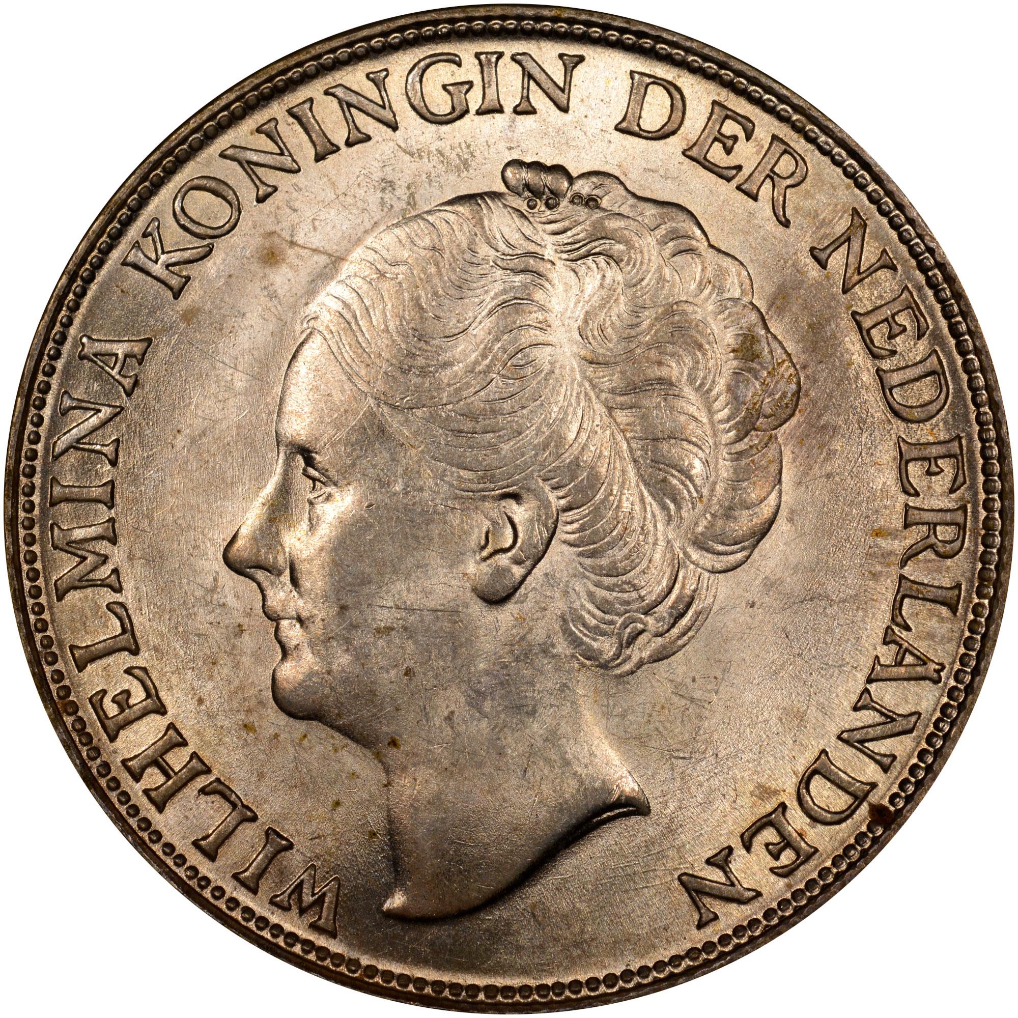 1944 Curacao Gulden obverse