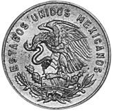1954-1969 Mexico 5 Centavos obverse