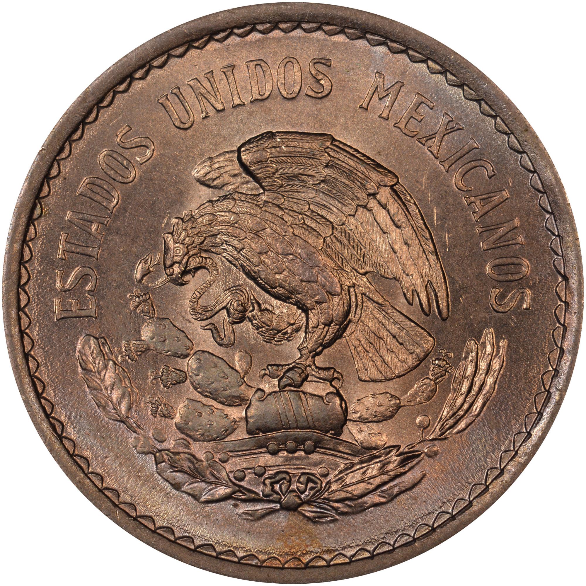 1936-1946 Mexico 10 Centavos obverse
