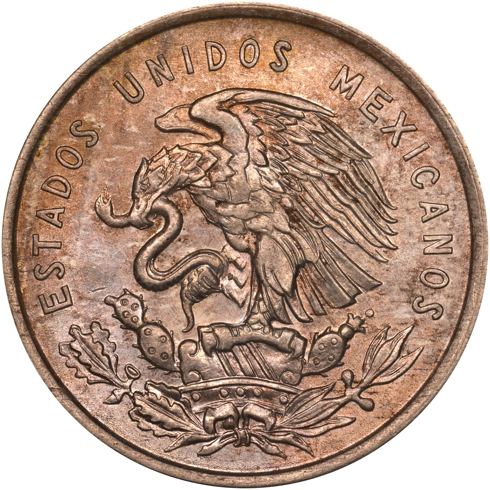 1950-1951 Mexico 50 Centavos obverse