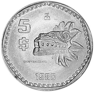 1980 1985 Mexico 5 Pesos Km 485 Prices Amp Values Ngc