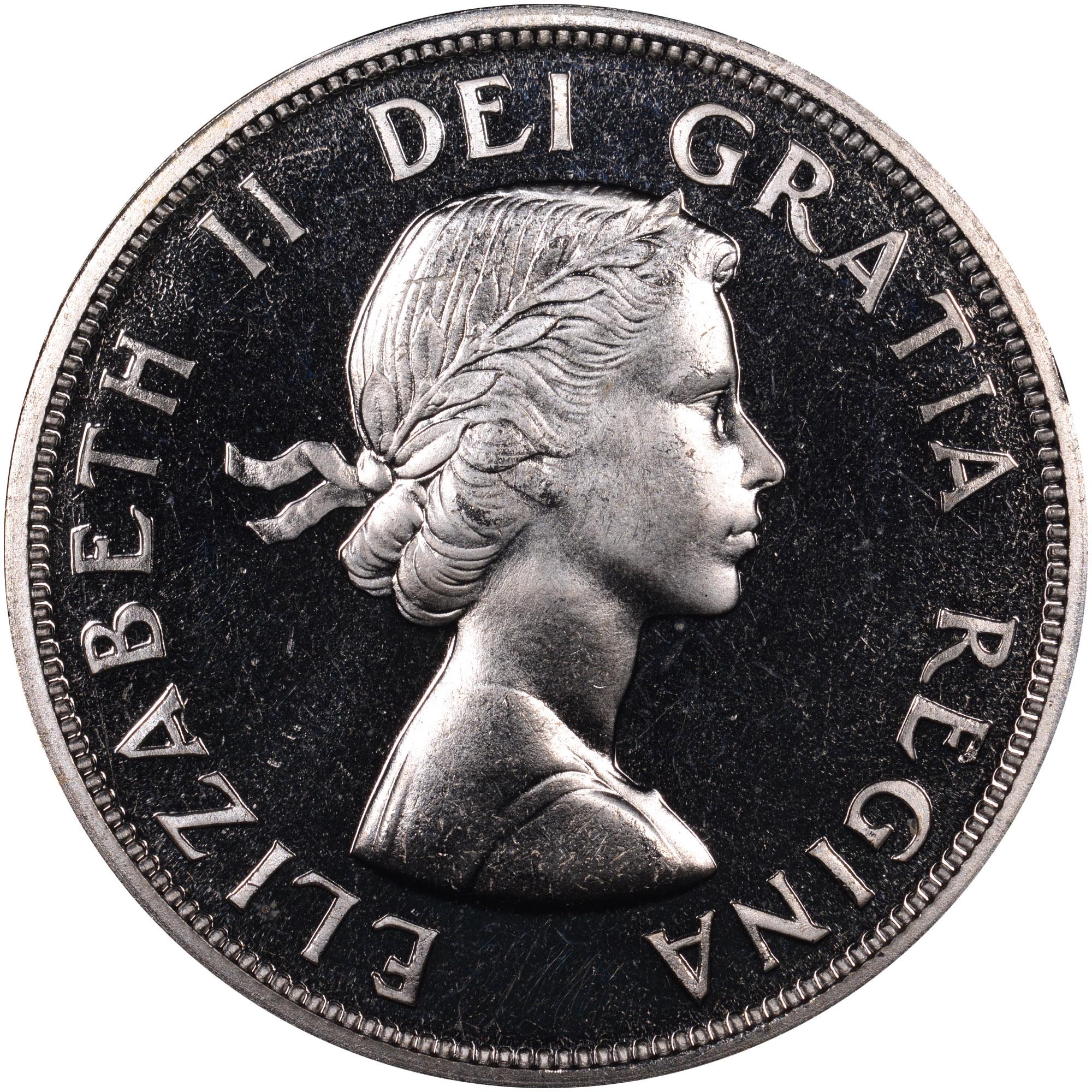 1953-1963 Canada Dollar obverse