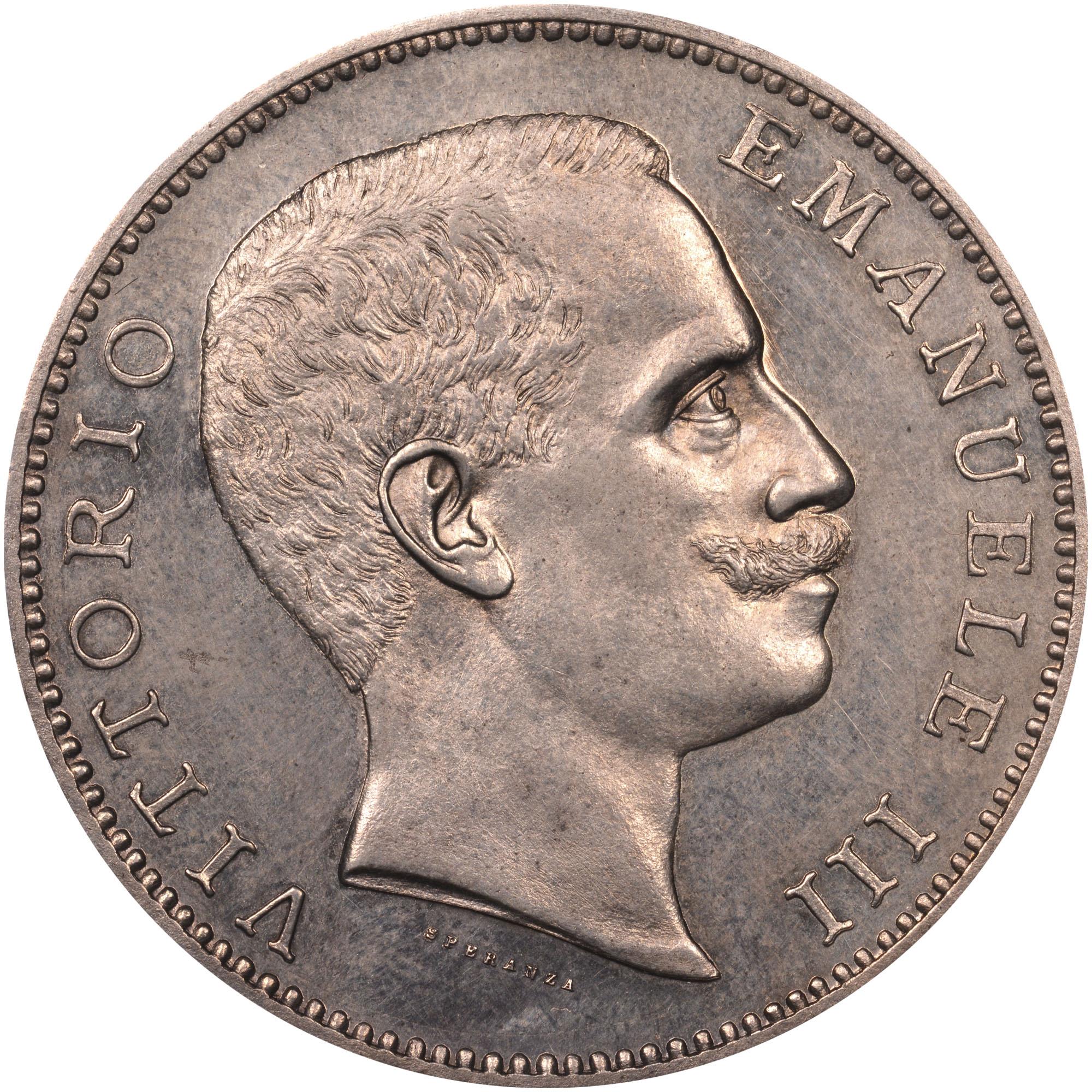 1901 Italy 5 Lire obverse