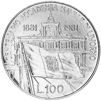 (1981) Italy 100 Lire reverse