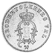 1875-1903 Norway 10 Ore obverse
