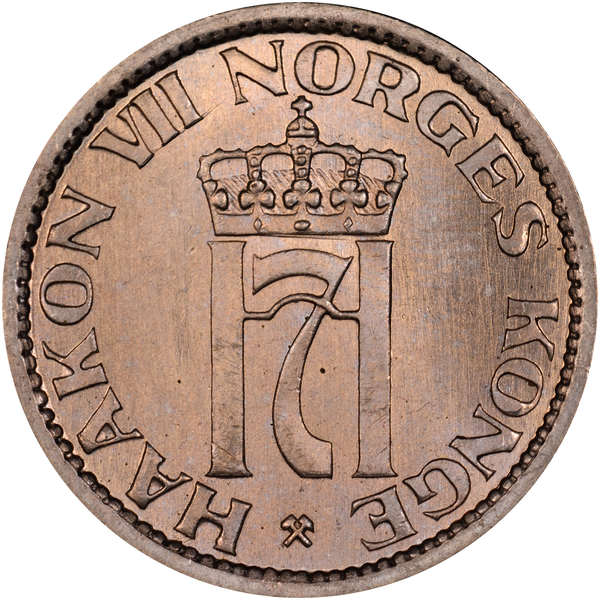 1953-1957 Norway 50 Ore obverse
