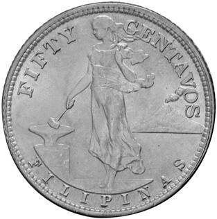 1944-1945 Philippines 50 Centavos obverse