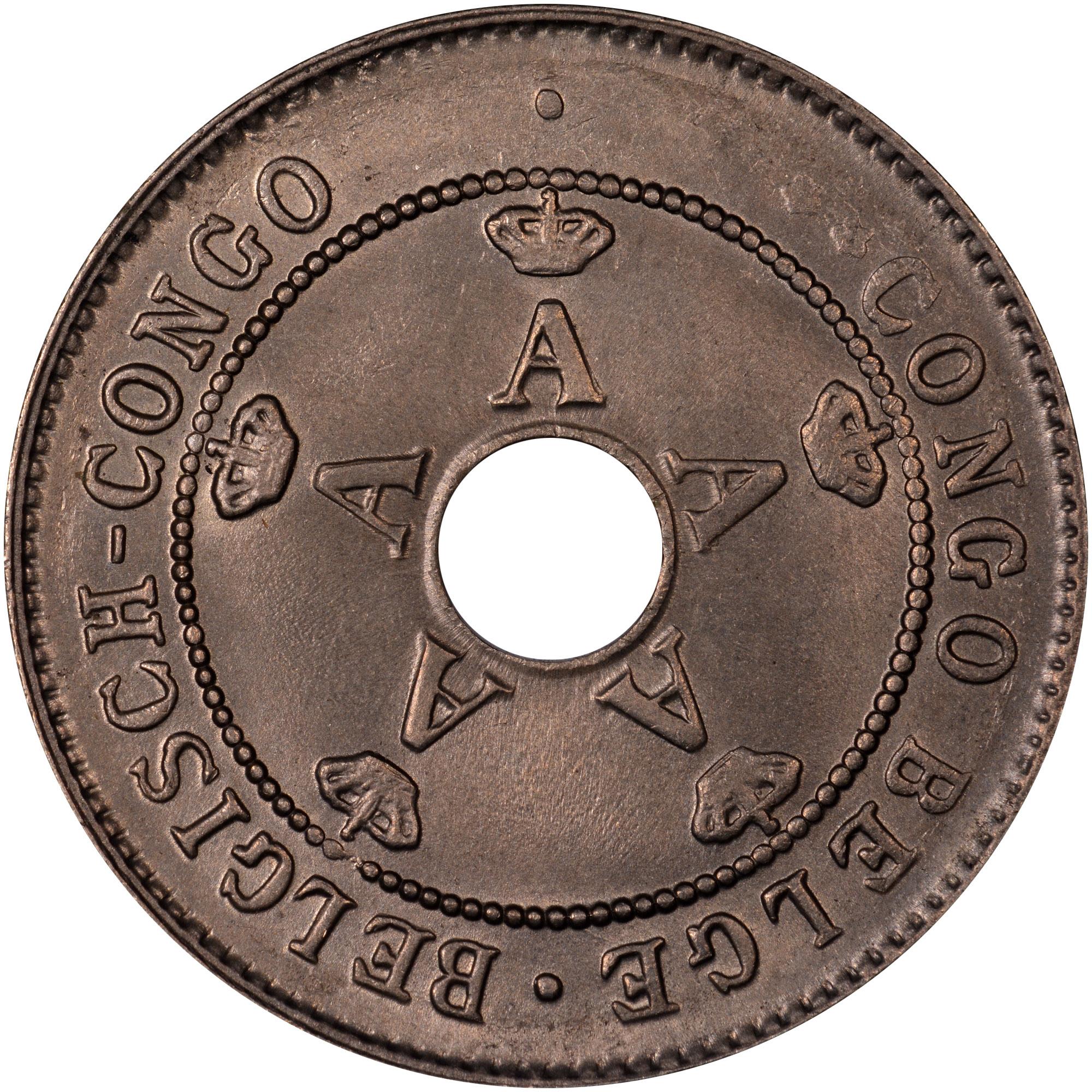 1910-1928/7 Belgian Congo 10 Centimes obverse