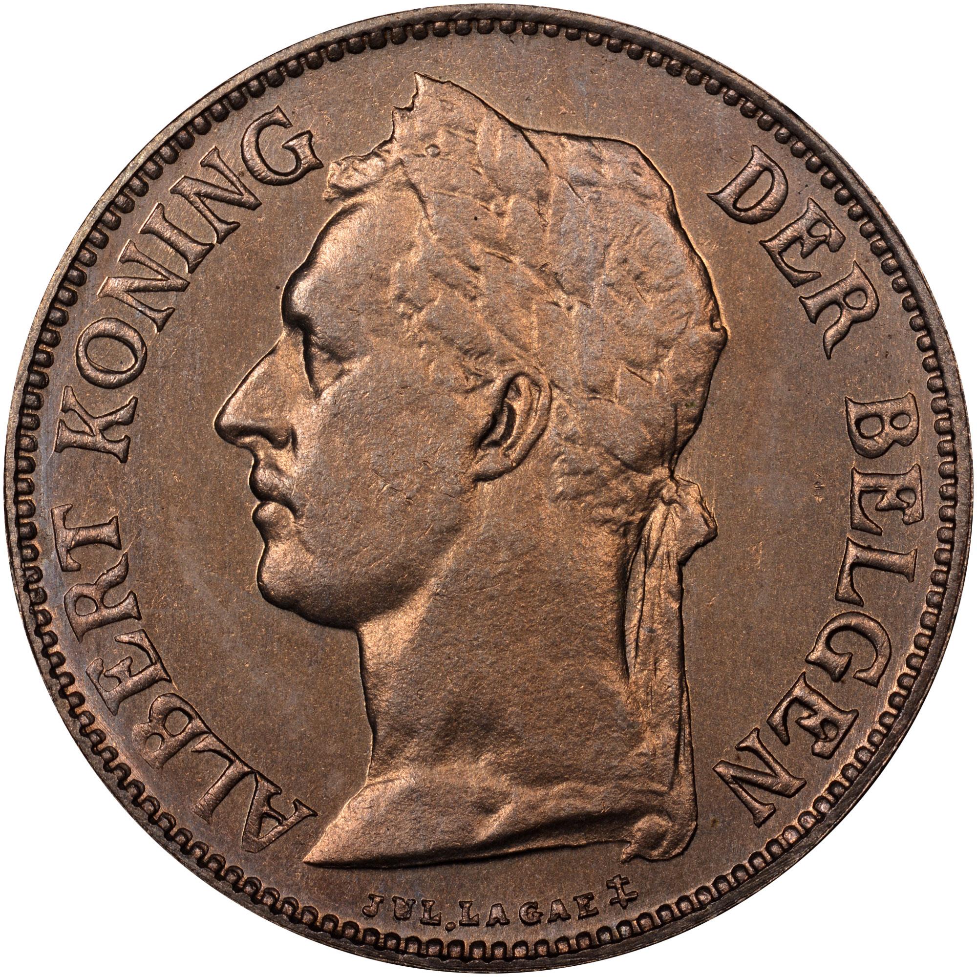 1921-1929/8 Belgian Congo 50 Centimes obverse