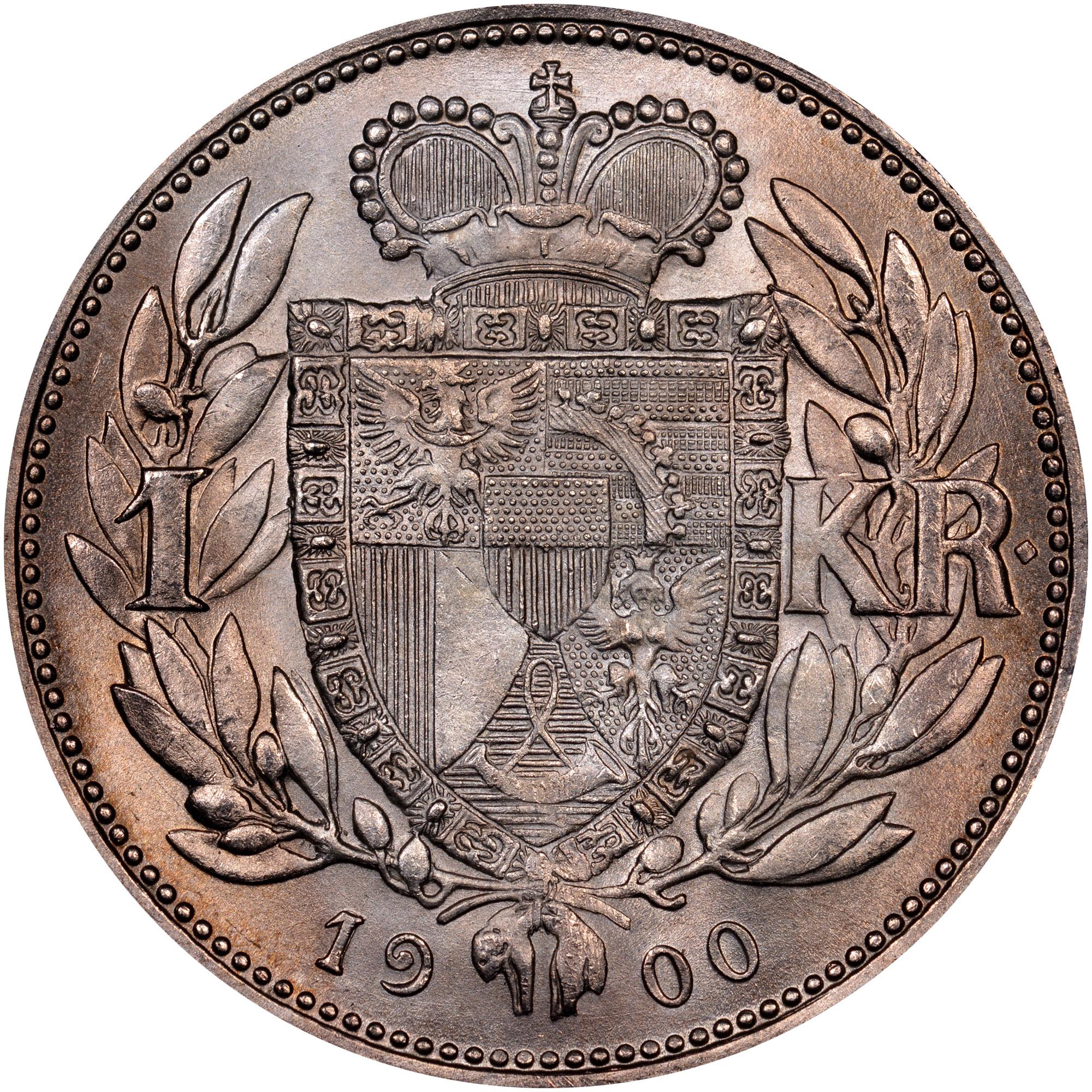 1900-1915 Liechtenstein Krone reverse