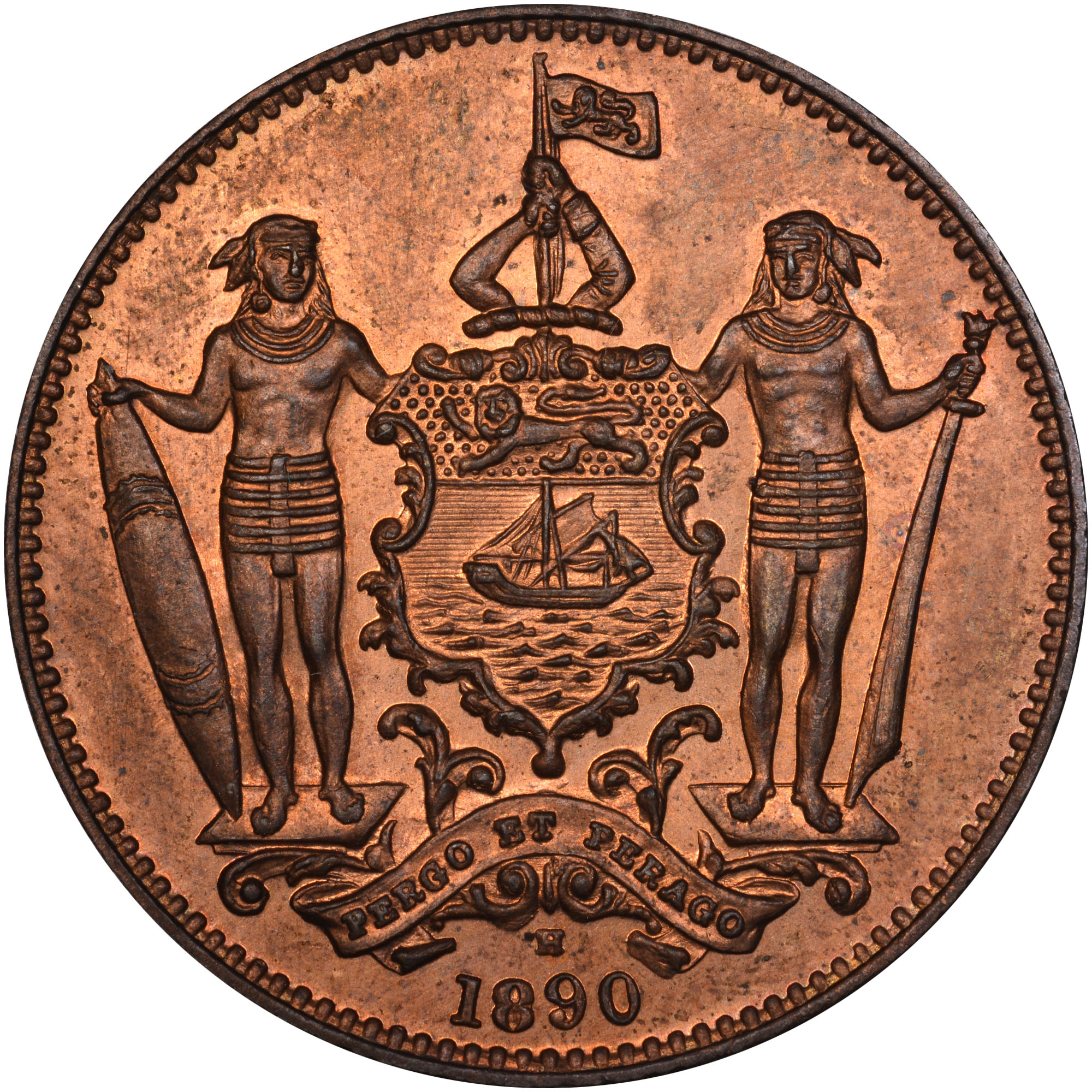1882-1907 British North Borneo Cent reverse