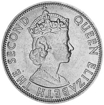 1954-1961 Malaya & British Borneo 50 Cents obverse